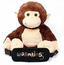 """Hugo""Heated/Cooled,Multi Functional,18"" Plush Monkey Buddy/Backpack by Warmkins"