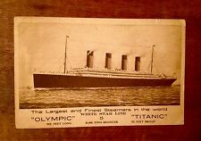 ~ TITANIC OLYMPIC WHITE STAR LINE POSTCARD POSTALLY USED STAMP 1911 PRE-SINKING