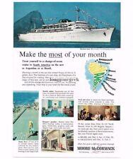 1959 Moore-McCormack Ocean Liner travel  Vtg Print Ad