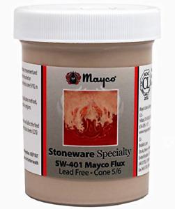 Mayco Flux - SW-401- Hi Fire Specialty Glaze, Cone 5/6 Kiln Fire -4 Ounce Jar