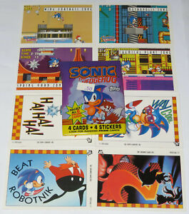 1993 SONIC THE HEDGEHOG TOPPS TRADING CARDS VINTAGE PACK NEW / OPENED STICKERS 4