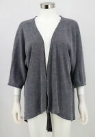 LuLaRoe Lindsay Cardigan Womens Blue Heathered Ribbed Open Front Sweater Medium