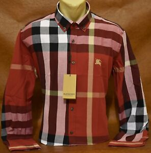 NWT Brand New  Men's BURBERRY Long Sleeve SHIRT Size M to 2XL