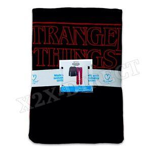 Netflix Stranger Things Red/Black Long Sleeve Top & Trousers Pyjama PJ Set NEW