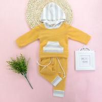 2pcs Newborn Kids Baby Boy Girl Clothes Hoodies Tops+Pants Outfits Set Tracksuit
