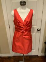 """Kate Spade New York Gold Red """"Mina"""" Dress  w/ Bow Front, Size 10, NWT!"""