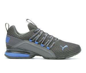 AUTHENTIC Puma Axelion Spark Grey Blue Athletic Gym Running Shoe men size