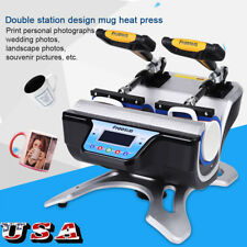 Double Stations Mug Heat Press ST-210 Sublimation Transfer Printing Machine 110V