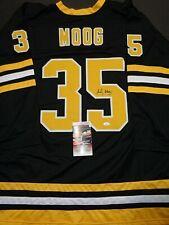 Andy Moog Boston Bruins Autographed Signed Black Style Jersey XL coa=JSA--