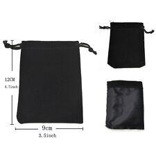2x Jewelry Bag Black Velvet Necklace Ring Earrings Storage Bag Display BagsGK