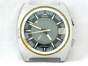 1 Owner Vintage Omega Memomatic Alarm 166.072 Cal 980 Seamaster Date Steel Watch