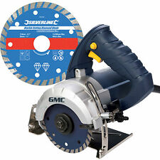 GMC Hand Held Wet Stone Cutter Saw Tile Cutting Machine Kit with Diamond Blade