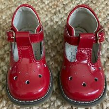GIRLS TODDLER RED PATENT LEATHER T STRAP SHOES FOOTMATES 3.5