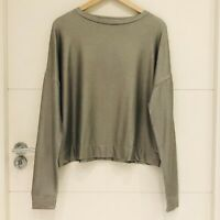 MAJESTIC FILATURES SILVER SHEEN VISCOSE SOFT-TOUCH RELAXED FIT TOP NEW 1/ UK 8