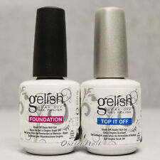 GELISH Harmony Soak Off Gel Nail Polish FOUNDATION Base & Top Coat 15 mL 0.5oz