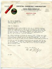MEMPHIS TENNESSEE CRYSTAL CARBONIC GAS  DOCUMENT 1931 9436K