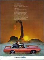 1969 Ford Thunderbird Landau Sunroof Woman Moon Sun Photo Print Ad  ads21