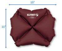 Klymit Pillow X Soft Inflated Compact Outdoor Travel Camp Pillow