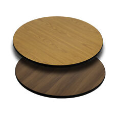 Flash Furniture 30 Round Table Top w/Natural or Walnut Reversible Laminate Top