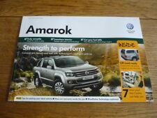 VW VOLKSWAGEN AMORAK BROCHURE 2012/13