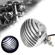 Chrom Oldtimer Motorrad Hauptscheinwerfer Lampe für Harley Honda Yamaha Kawasaki