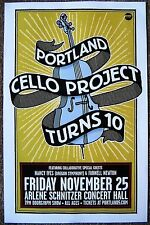 Portland Cello Project 2016 Gig Poster Portland Oregon Concert