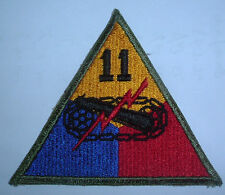 AMERICAN PATCHES-ORIGINAL WW2 11th ARMOURED DIVISION SNOWY WHITE BACK