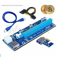 More details for pci-e 1x to 16x power usb3.0 gpu extender riser adapter card cable bitcoin 6pin