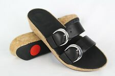 fca41d35d0c New Fitflop Women s Duo Buckle Slide Sandals Size 9 Black   K34-001