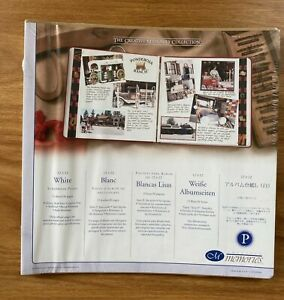 Creative Memories 12 x 12 Scrapbook Pages - White - 15 Sheets