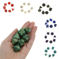 7Pcs Glitter Polyhedral Dice Sets Dungeons Dragons Game Toy for TRPG Lovers Gift