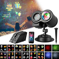 Moving LED Laser Projector Light Landscape Outdoor Xmas Party Garden Lamp 12 sid