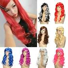 50cm Womens Long Hair Wig Curly Wavy Synthetic Anime Cosplay Party Full Wigs