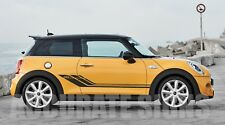 MINI COOPER GRAPHICS SET STICKERS STRIPES CAR DECALS ANY COLOUR
