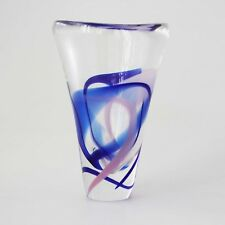 Kristalunie Maastricht Glasvase Max Verboeket signiert 13,5 cm Art Glass