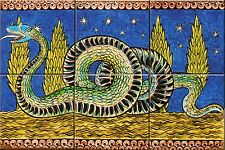 "Ceramic tile mural 6 X 6"" Each Tile William de Morgan Reproduction #002"