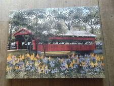 "Pottersburg  Bridge, covered bridge 12 x 16"" Canvas Print by artist Billy Jacobs"