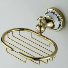 Wall Mount Gold Color Brass Bathroom Soap Dish Holder/ Soap Basket Gba253