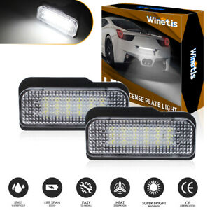 2x LED License Plate Number Lights Car Lamp For Mercedes-Benz W203(5D) W211 W219