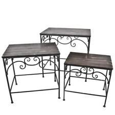 Tables d'appoint rectangulaire en métal pour le salon