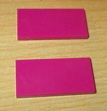 Lego 2x Fliesen - Kacheln 2x4 in Purple - Pink - 87079