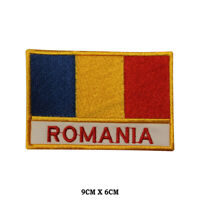 ROMANIA National Flag Embroidered Patch Iron on Sew On Badge For Clothes etc