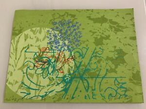 "Walter Knabe Original Artwork, Signed - Paint Stamp on Fabric, ""Carpe Diem II"""