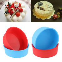 Tools Silicone Round Pattern Pudding Mold Muffin Mousse Mould Cake Pan Tray