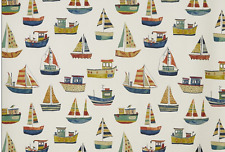BLACKOUT MTM ROMAN BLIND PRESTIGIOUS SAILING BOATS BOAT CLUB ANTIQUE BLUE GREEN