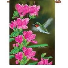 "Hummingbird Flower House Flag Large 40"" x 28"""