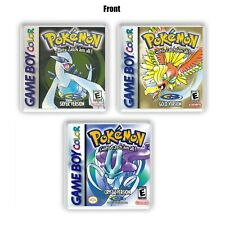 Pokemon Plastic Coasters Set Gold Silver and Crystal 3 Pack Fan Print Box Art