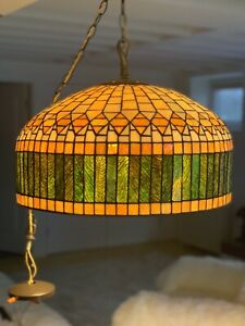 Tiffany Style Vintage  CURTAIN BORDER  hanging Light Chandelier