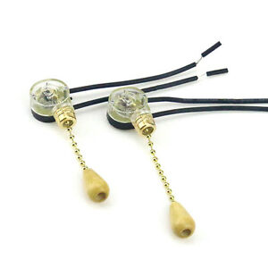 2pcs Universal Ceiling Fan Wall Light Replacement Pull Chain Cord Switch Control