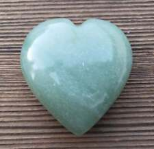 LARGE NATURAL GREEN AVENTURINE STONE GEMSTONE PUFFY HEART 60-70mm
